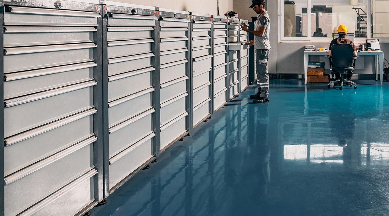جعبه ابزار کارگاهی پنج کشوی چرخدار- قابل استفاده در انواع محیطهای صنعتی جهت محافظت و حمل ابزارها و تجهیزات
